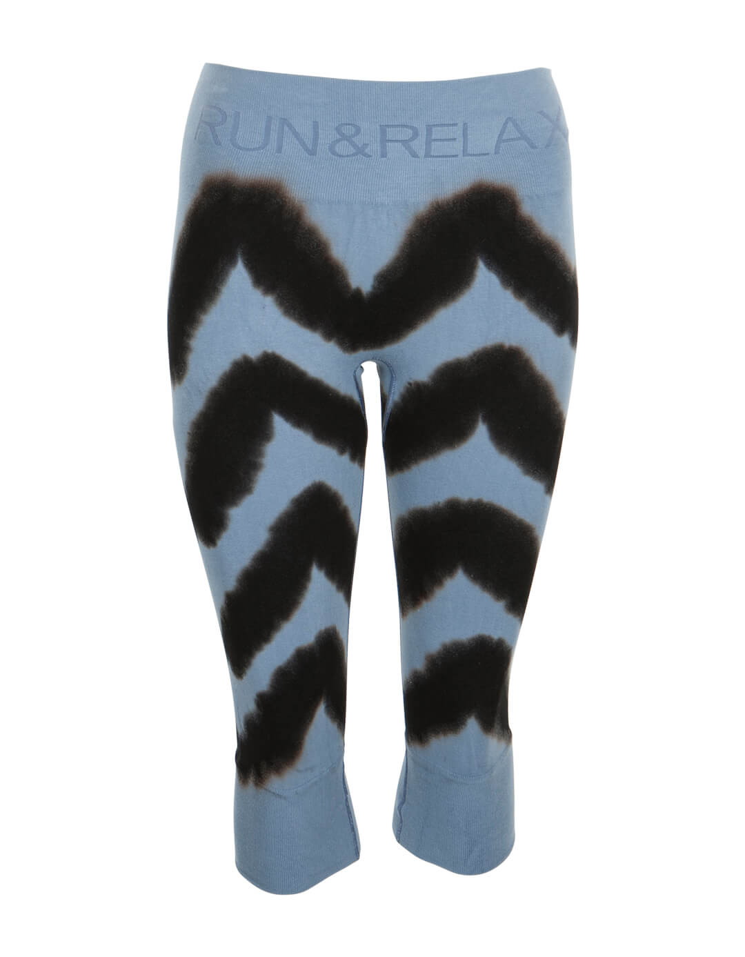 Run & Relax Yoga Capri Tie Dye - Misty Blue -L thumbnail